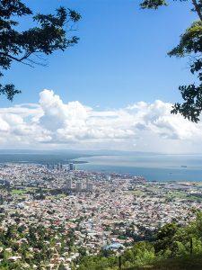 Birds eye view of Port of Spain Trinidad