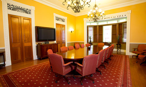 The main conference room at the firm, Hamel-Smith & Co.