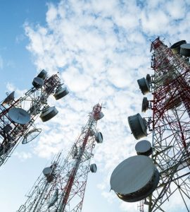 Telecommunication towers. Hamel-Smith practices Telecoms, IT and E-Commerce Law