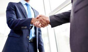 Lawyers handshake